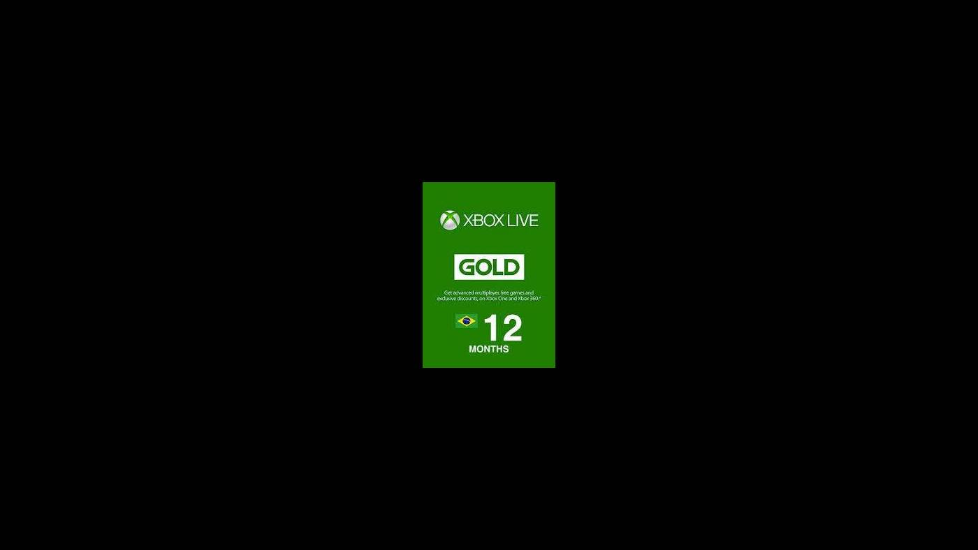 Buy Xbox Live GOLD Subscription Card XBOX LIVE BRAZIL 12