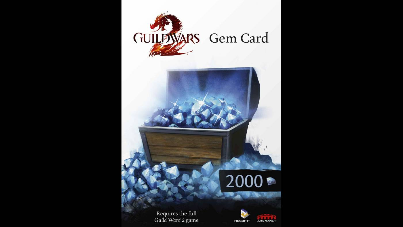 Buy GUILD WARS 2 GEMS 2000 GAMES CARD Prepaid Cd