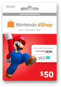 Nintendo eshop $50 card (US NETWORK ONLY)